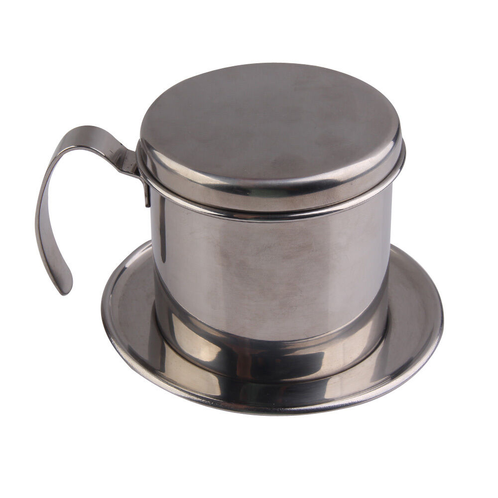 Coffee Maker With Metal Filter : Stainless Steel Metal Vietnamese Coffee Drip Cup Filter Maker Infuser Strainer eBay