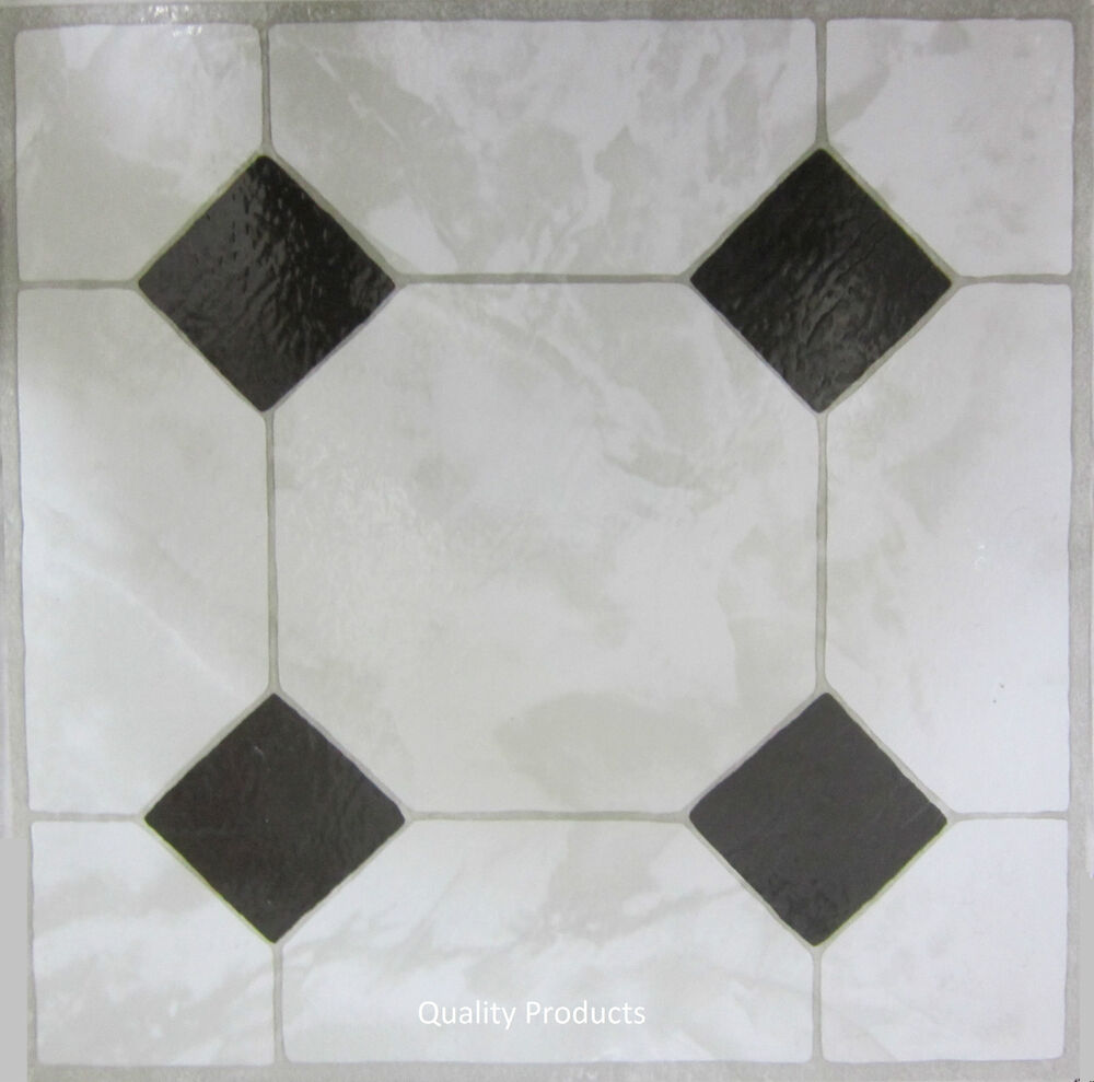 60 x vinyl floor tiles self adhesive bathroom kitchen bnib ceramic 311652 ebay. Black Bedroom Furniture Sets. Home Design Ideas