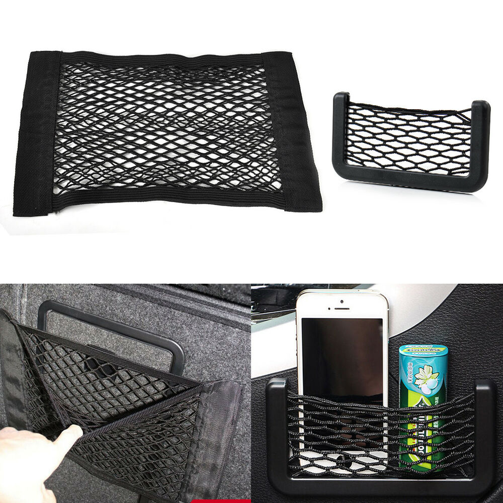 universal car seat rear storage pocket phone card net bag organizer holder ebay. Black Bedroom Furniture Sets. Home Design Ideas