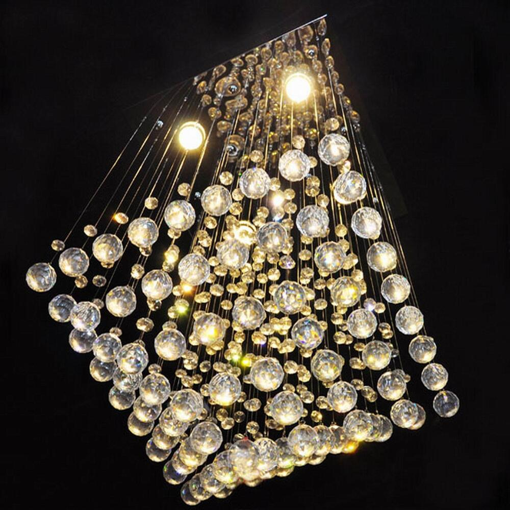 Pro Luxury Square Elegant Crystal Chandelier Ceiling Light