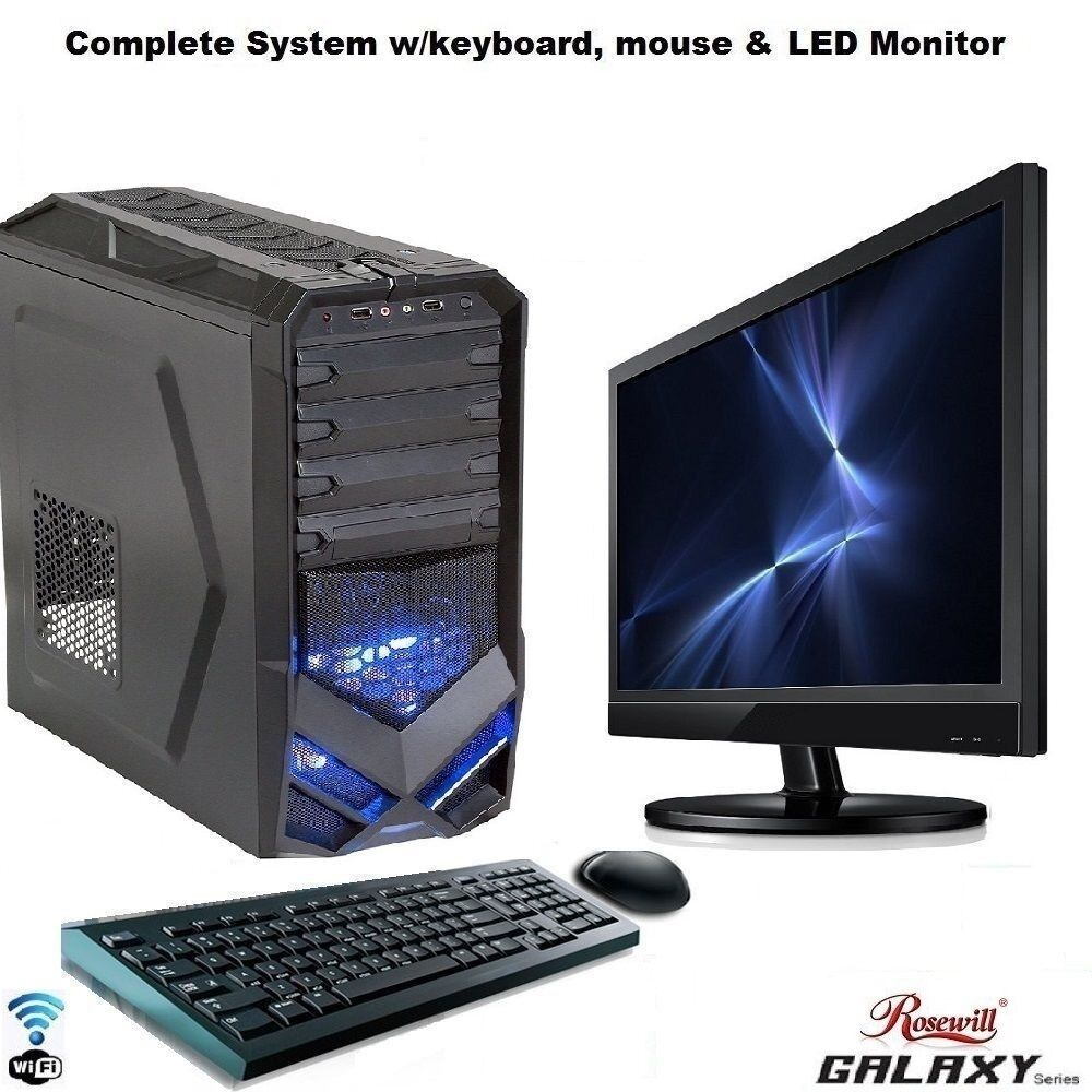 AMD Quad Core Gaming PC Computer 2TB New Fast Custom Built ...