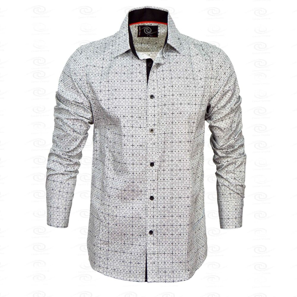 New mens caviar dremes long sleeve button down dress shirt for Mens long sleeve button down shirts