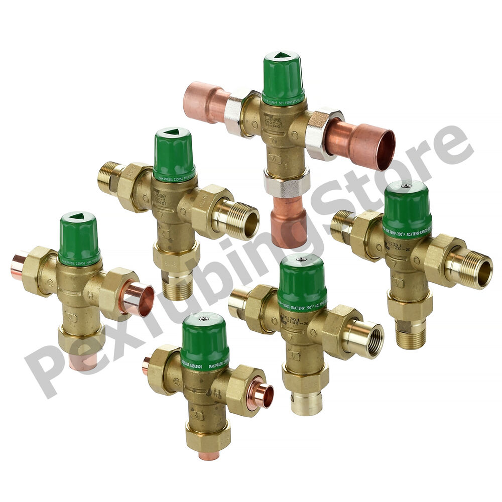 "Thermostatic Mixing Valve: Taco 5000/5120 Thermostatic Mixing Valve 1/2"", 3/4"" Or 1"