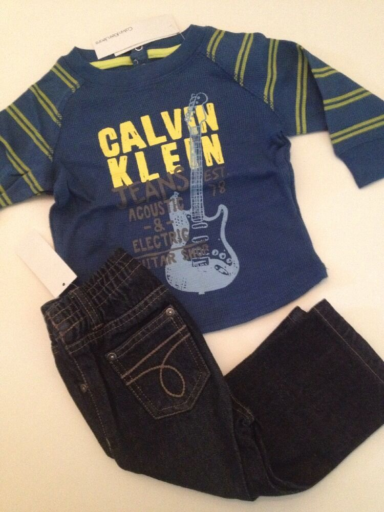 Calvin Klein Baby Boys Size 12 18 24 Months Outfit Set