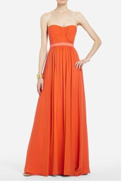 bcbg wedding dresses new bcbg max azria melon strapless evening gown 1531