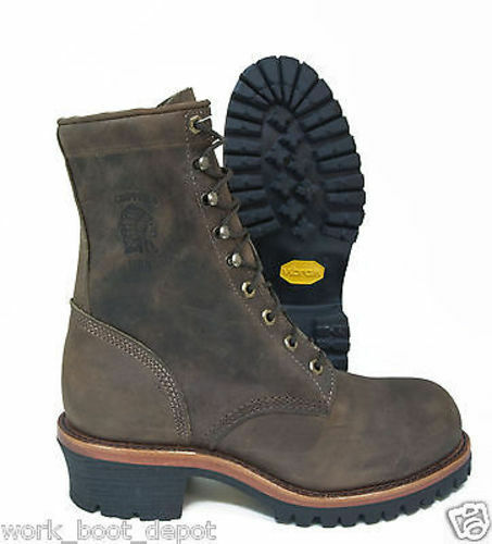 Chippewa Men S 8 Inch Chocolate Leather Apache Safety Toe