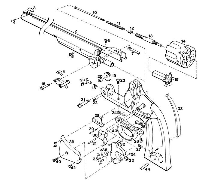 70 smith  u0026 wesson revolver exploded parts diagram auto