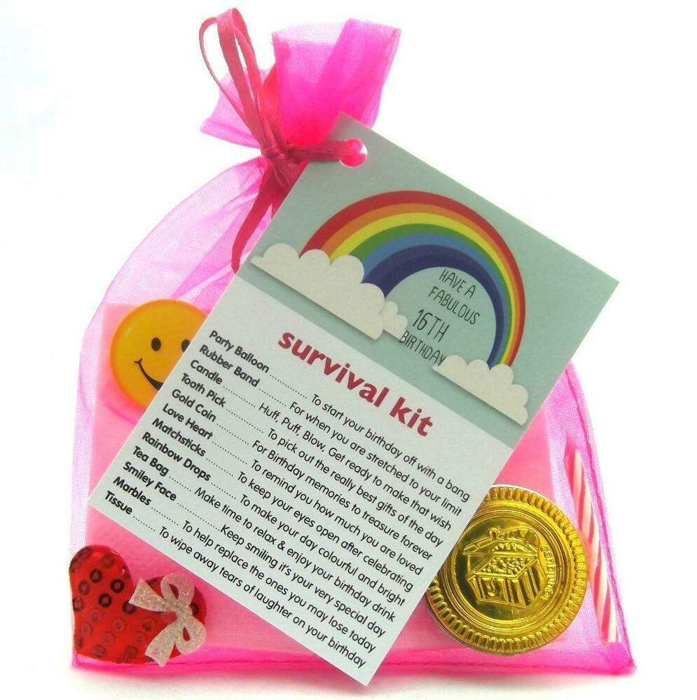 16th 18th 21st BIRTHDAY PRESENT SURVIVAL KIT FUN NOVELTY