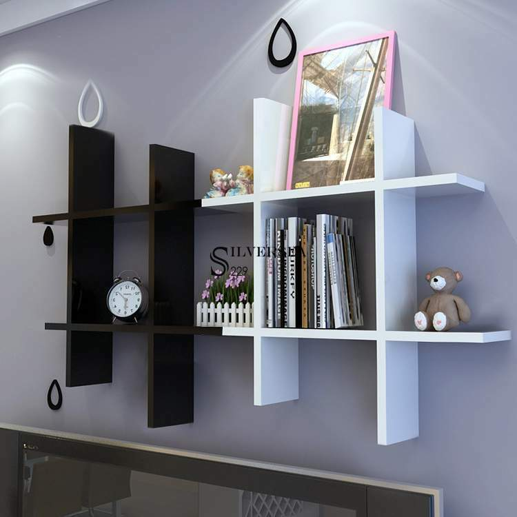 4pc Floating Wall Shelf Display Shelves Corner Storage Home Decor Storage Ebay