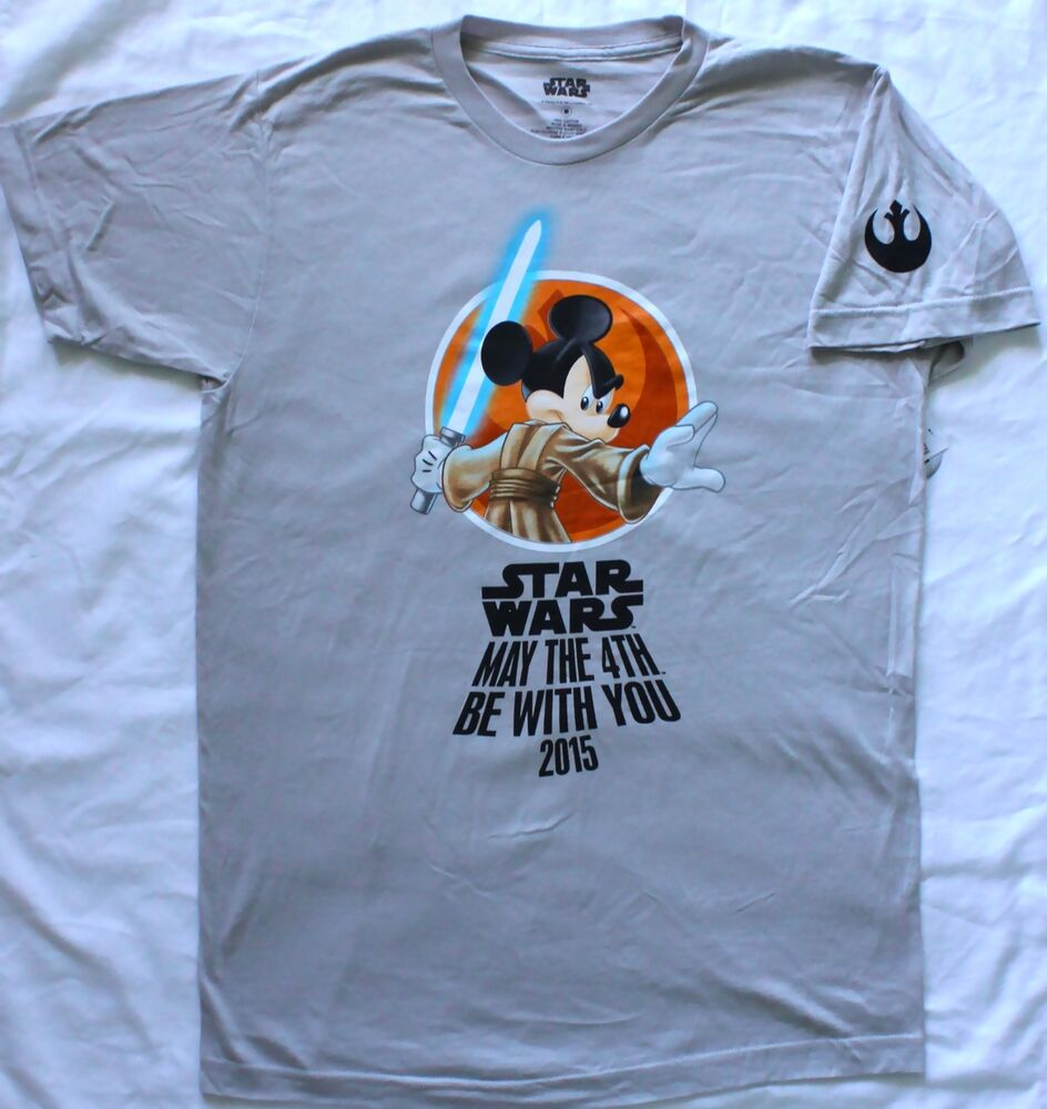 NEW Disney Star Wars Mickey May The 4th Be With You T