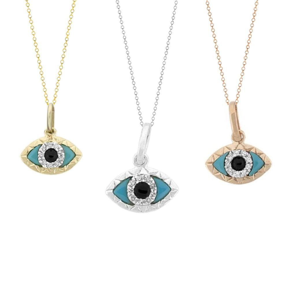 evil eye diamond pendant necklace ctw g h si1 in real. Black Bedroom Furniture Sets. Home Design Ideas
