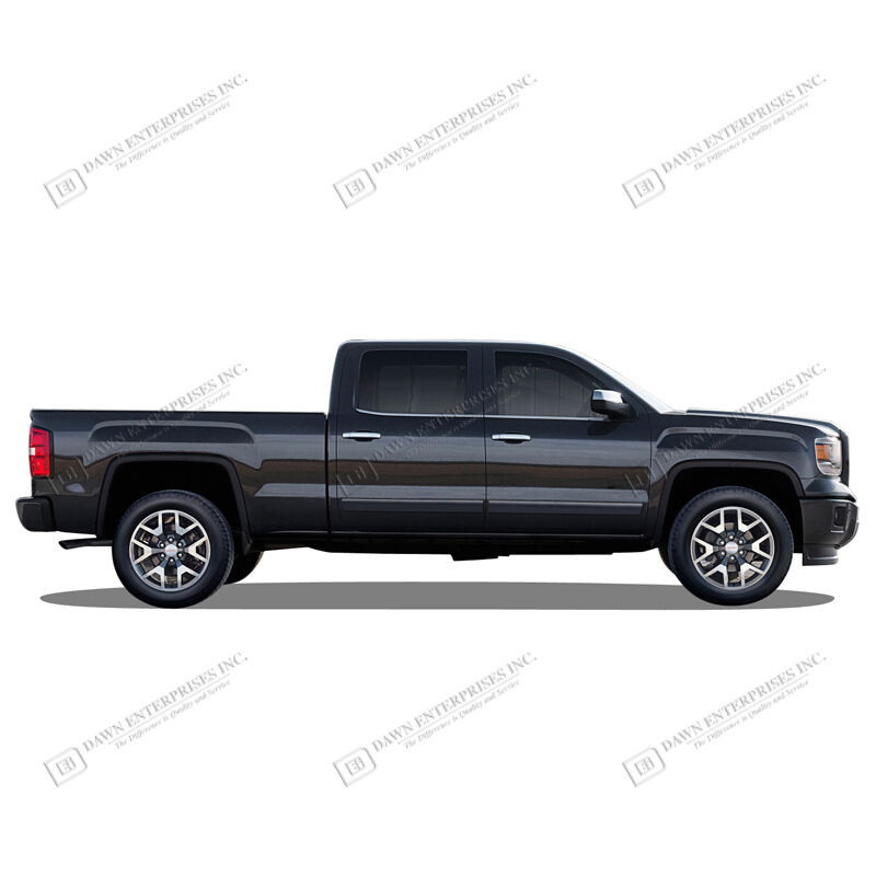 For: CHEVY SILVERADO CREW CAB; PAINTED Body Side Moldings