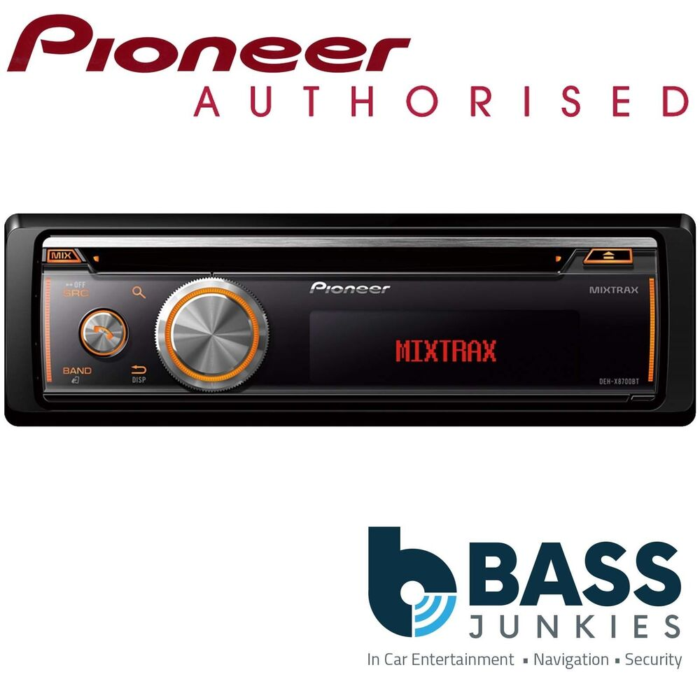 pioneer deh x8700bt bluetooth usb cd mp3 aux in car stereo. Black Bedroom Furniture Sets. Home Design Ideas