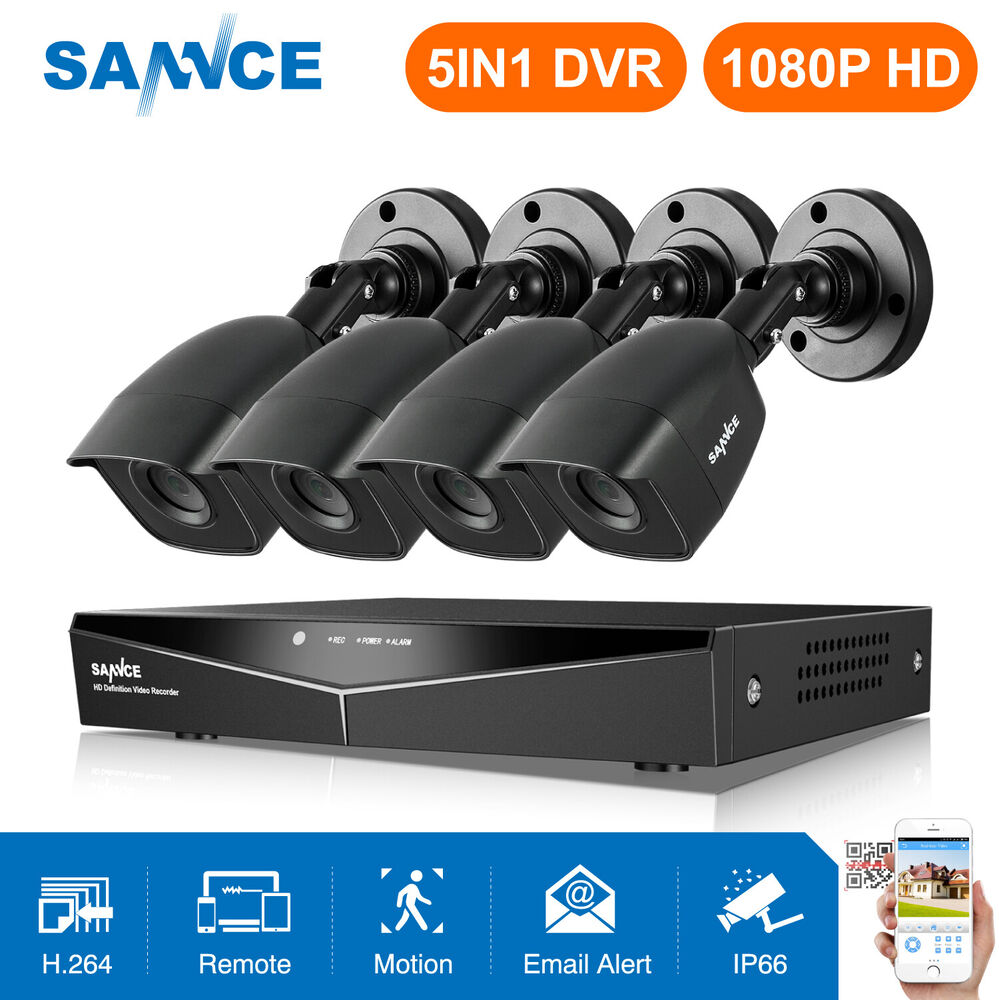 Sannce 8ch 1080n hdmi dvr 1500tvl outdoor cctv video home security camera system ebay - Exterior surveillance cameras for home ...