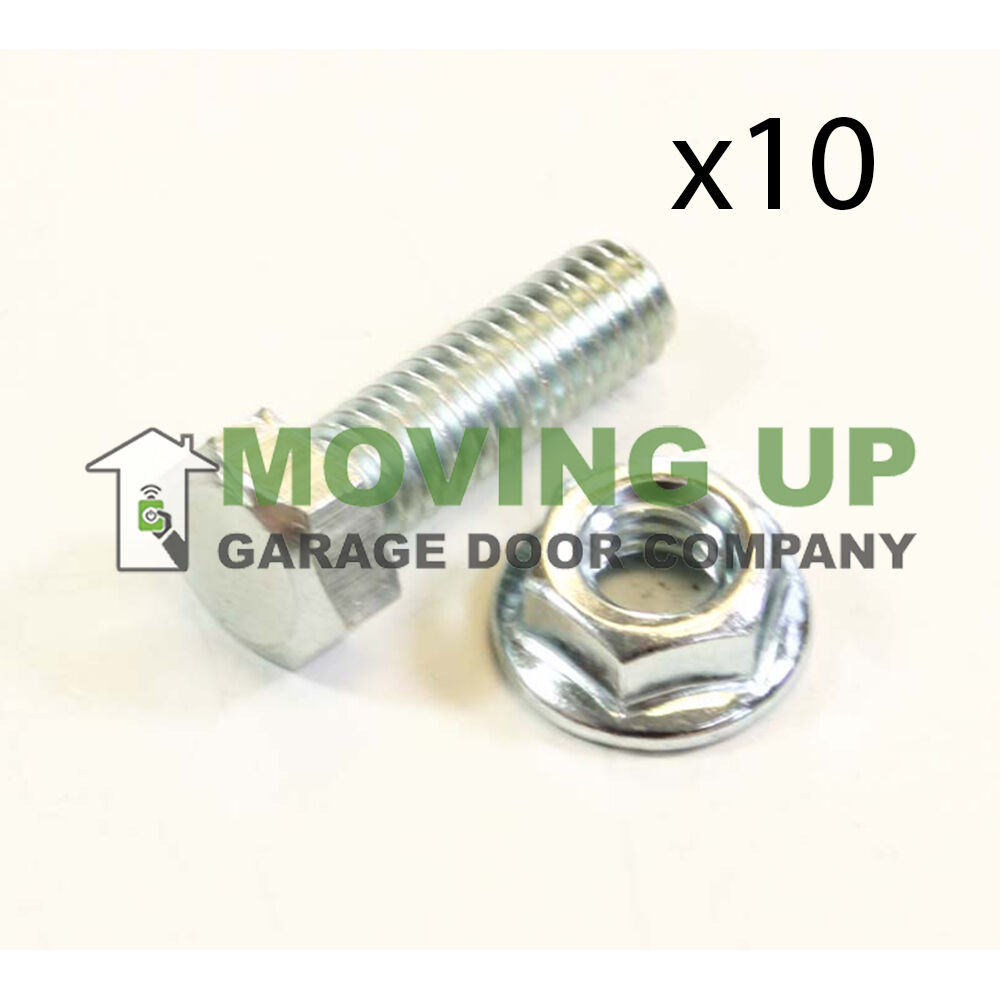 Garage door hardware hex bolt and serrated flange nut 5 16 for 18 x 10 garage door