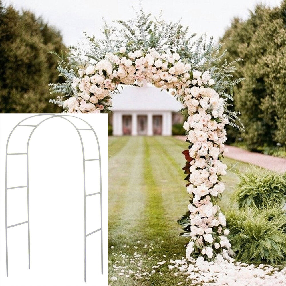 75 Ft White Metal Arch Wedding Garden Bridal Party Decoration Prom Flower Decor