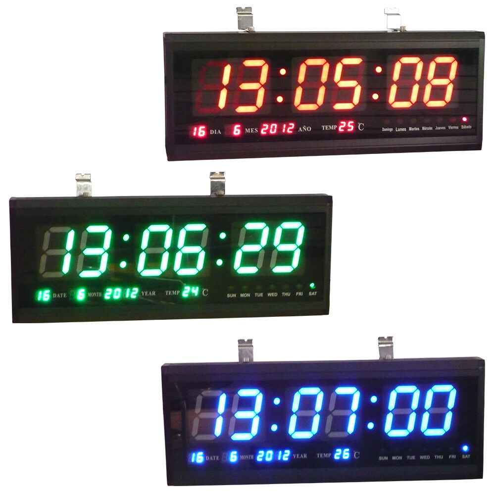 Digital led wall clock desk clock wall clock calendar Digital led wall clock