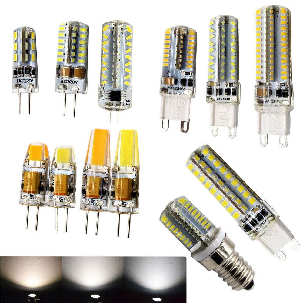3 5 6 7 9w dimmable led g4 g9 e14 light lamp smd cool day warm white 12 220v cob ebay. Black Bedroom Furniture Sets. Home Design Ideas