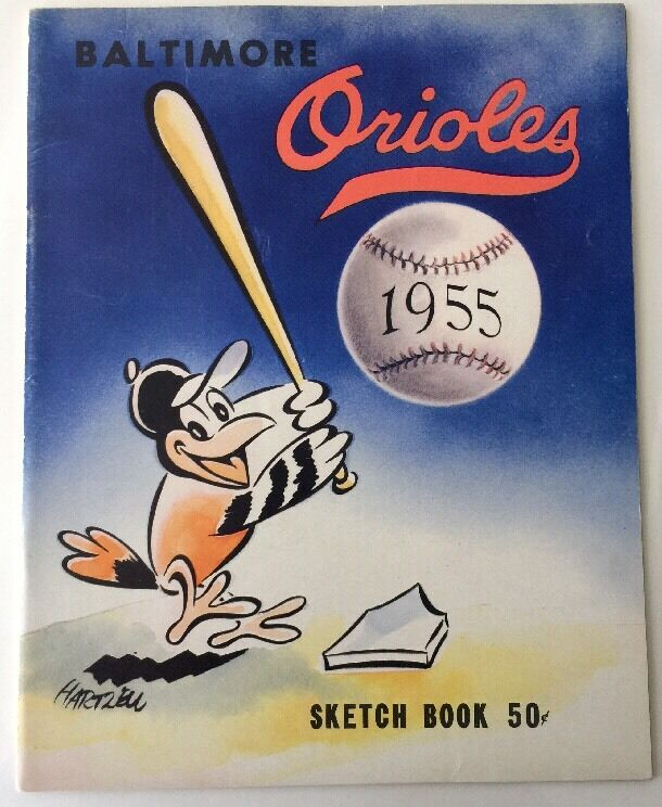 1955 Baltimore Orioles Yearbook 2nd Year In Baltimore Ebay