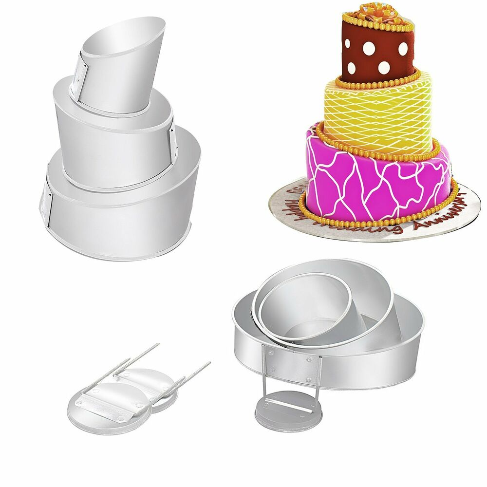 turvy 4 tier multilayer wedding cake pans round heart square ebay
