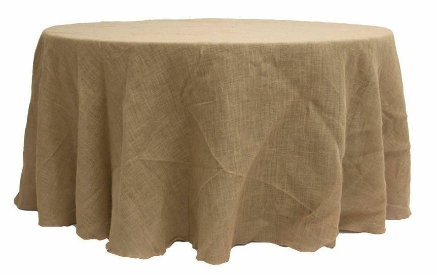 90 quot round natural burlap tablecloth table cover wedding party catering