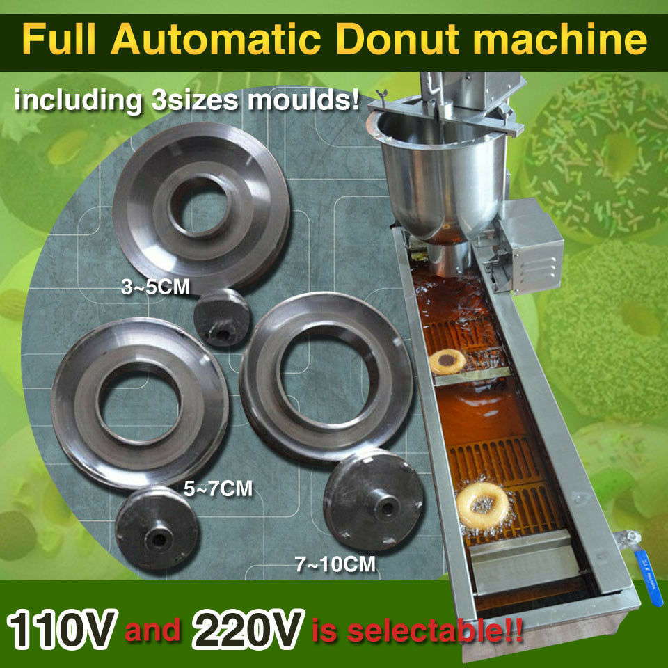 Automatic Doughnut Factory: 110V/220V Food Grade Automatic Donut Making Machine,donut