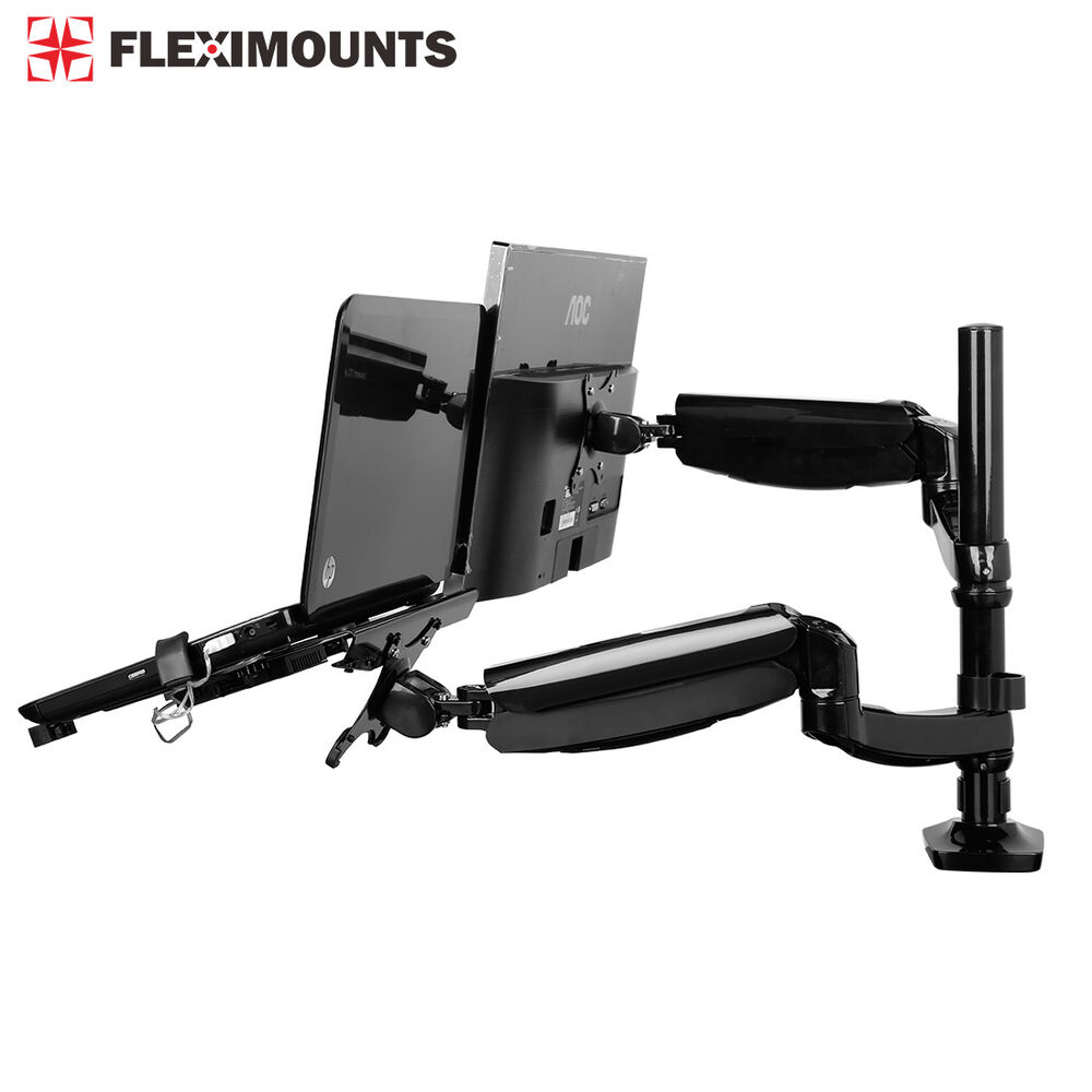 Dual Arm Laptop Stand Holder Desk Monitor Mount 10 Quot 27 Quot 19