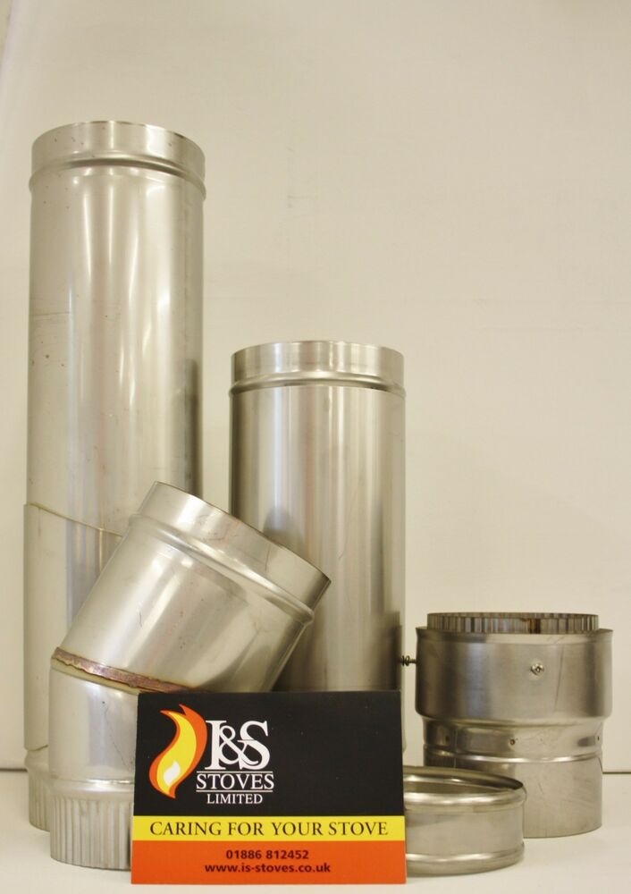 Stainless Steel Stove Flue Pipe Various Sizes Ebay