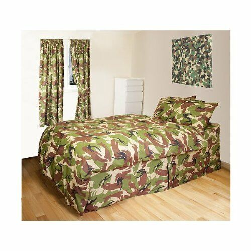 Kids Army Camouflage Single Bedding Set Camo Duvet Cover