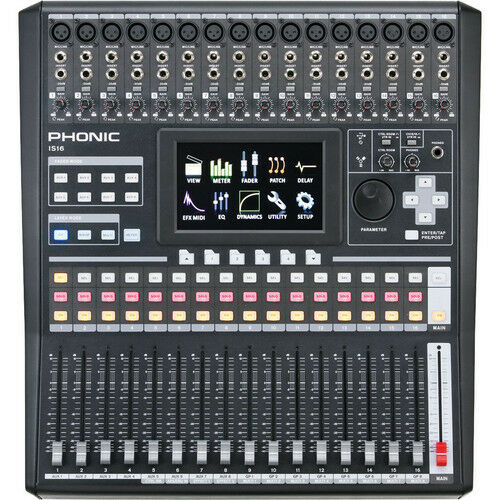 phonic is16 16 input 8 bus digital mixing console phdm16 ebay. Black Bedroom Furniture Sets. Home Design Ideas