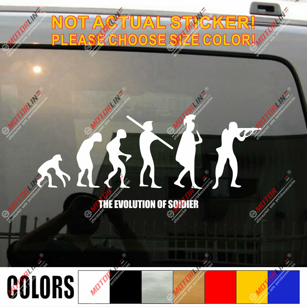 The Evolution Of Soldier Funny Us Army Military Car Trunk