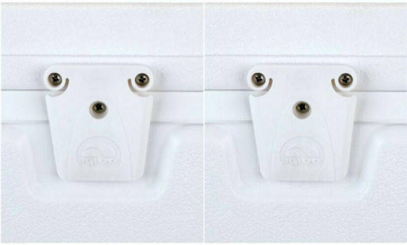 2 Genuine Igloo 24013 Ice Chest Latch Sets White Cooler