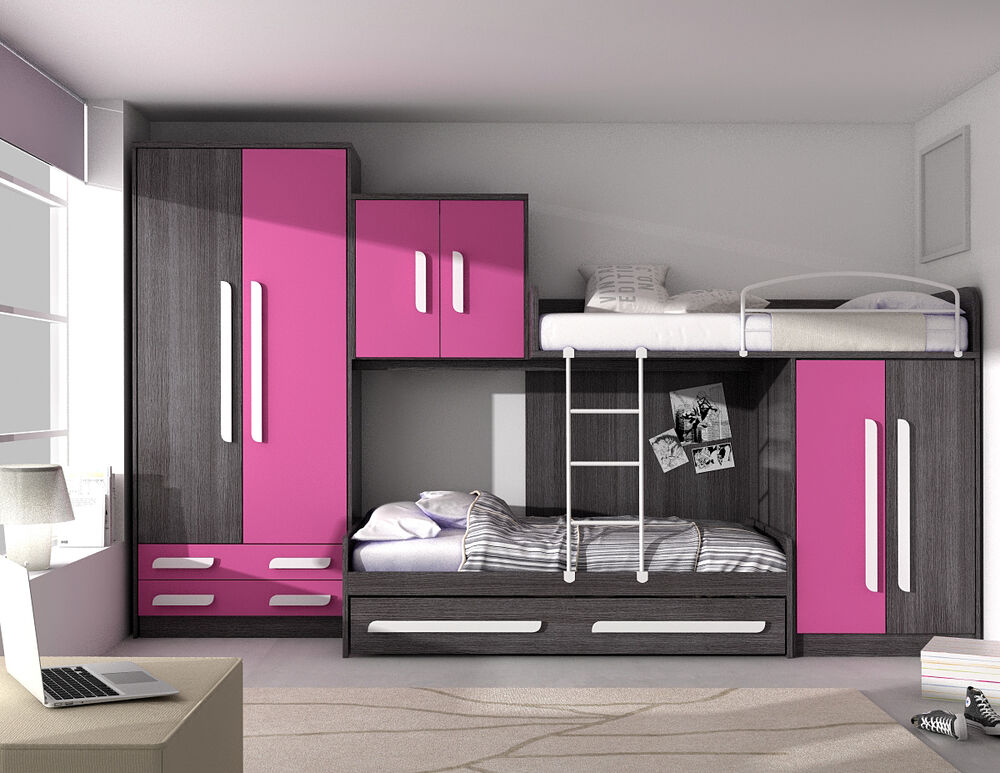 xxl kinderzimmer set step hochbett g stebett kleiderschrank in 41 farben ebay. Black Bedroom Furniture Sets. Home Design Ideas