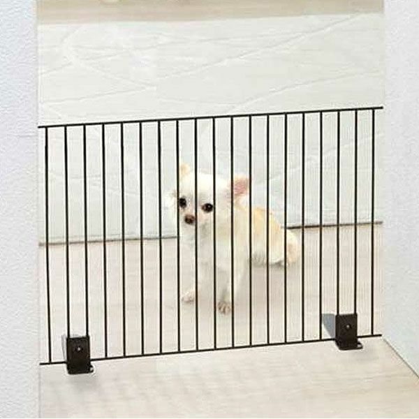 Iris Freestanding Metal Wire Pet Gate Safety Dog Barrier