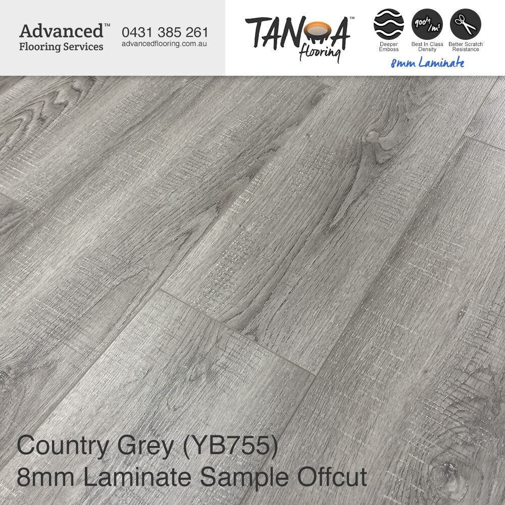 Sample Offcut Country Grey 8mm Laminate Floor Timber Floors Floating Floorboards