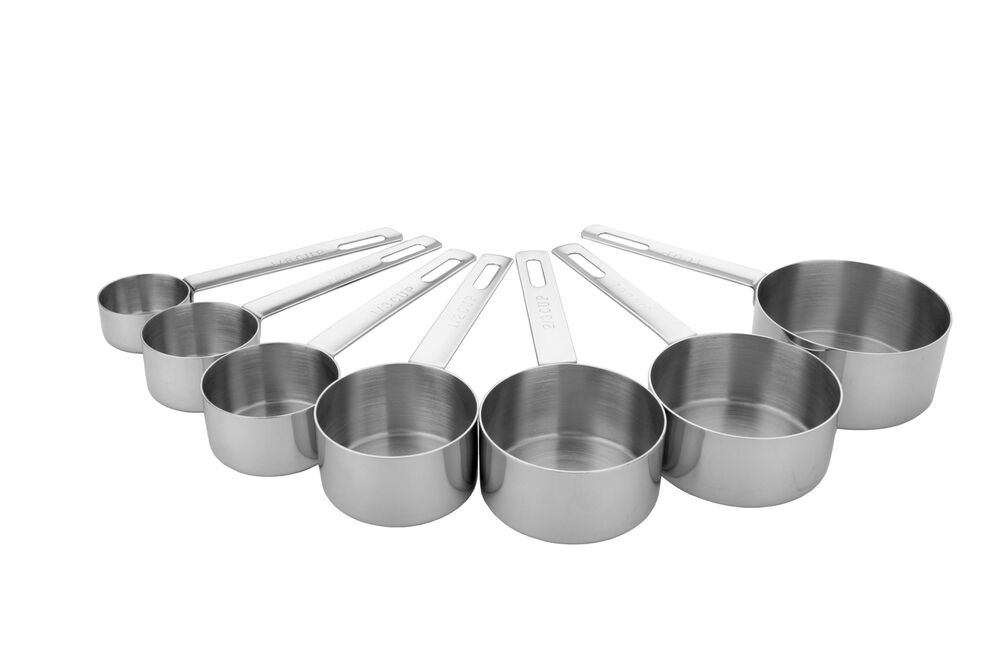 miu stainless steel measuring cups 7 size set 1 8 1 4 1 3 1 2 2 3 3 4 1 cup ebay. Black Bedroom Furniture Sets. Home Design Ideas