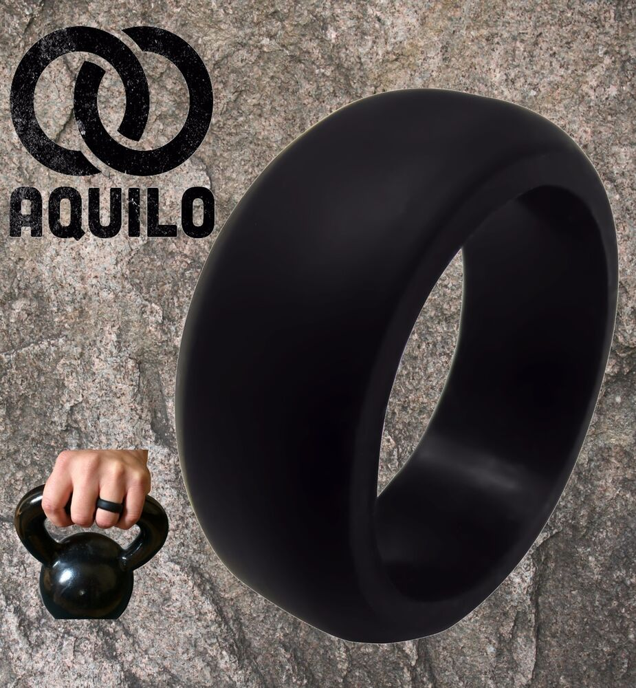 mens silicone wedding band AQUILO Silicone wedding Ring Band rubber ring Crossfit Best Flexible Durable eBay