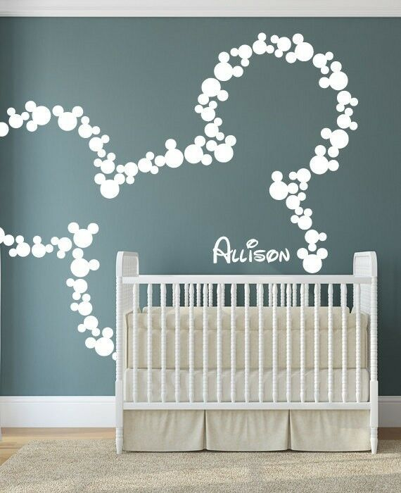 Wall Sticker Personalized Mickey Mouse Nursery Decal