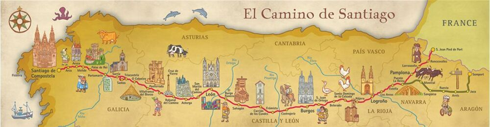 Map Of Camino De Santiago on