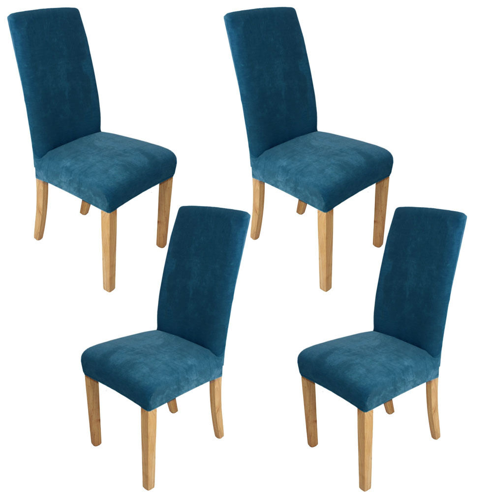 4pcs super fit washable stretch dining room chair covers slipcover protector uk ebay