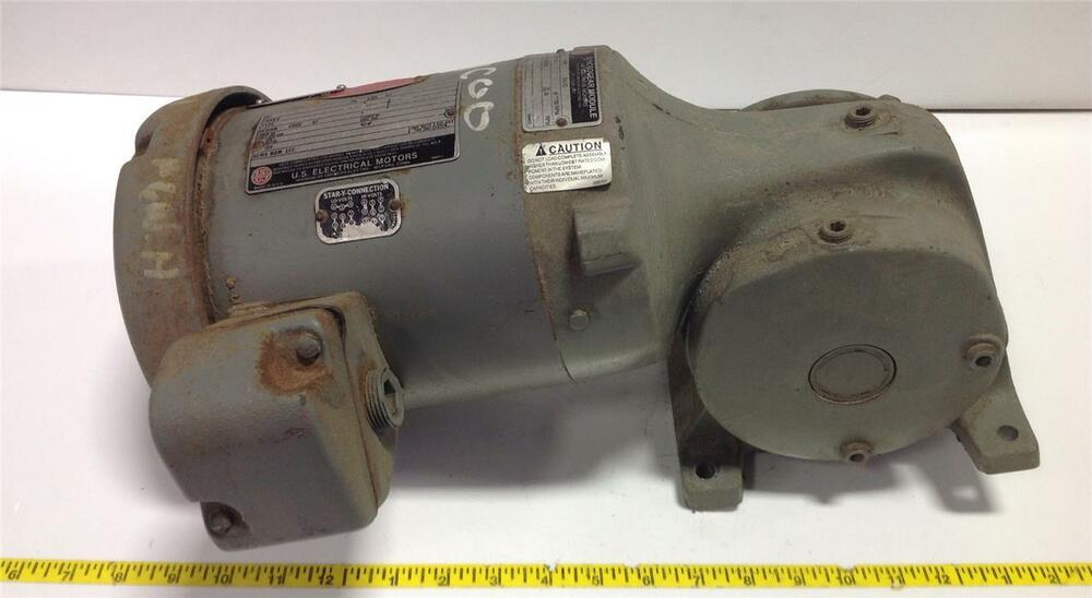 U S Electrical Motors 75hp 3 Phase Motor Frame 56 1750