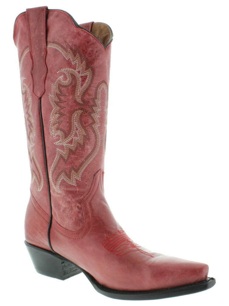 Simple  Red Cowboy Boots For Women  Western Volatile Denver Cowgirl Boots