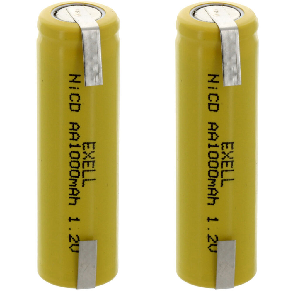 2pc aa 1 2v 1000mah nicd rechargeable assembly cell battery with tabs ebay. Black Bedroom Furniture Sets. Home Design Ideas