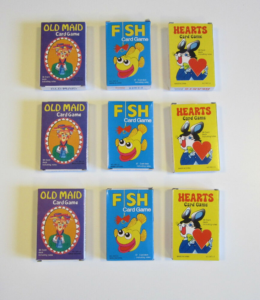 9 new decks of kids card games old maid go fish and hearts for Fish card game