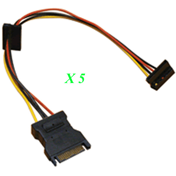 Sata Power Splitter : Lot sata power splitter cable adapter y rt
