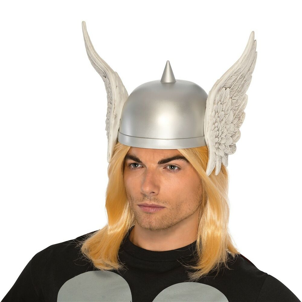 Thor Helmet with Wings Adult Superhero Costume Halloween ...