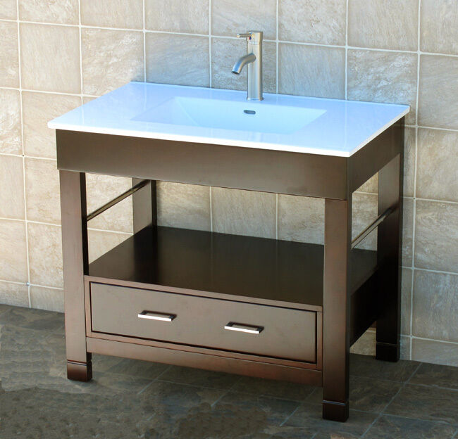 Cg36 Quot Bathroom Vanity Cabinet Ceramic Lavatory Top With Integrated Sink Ebay