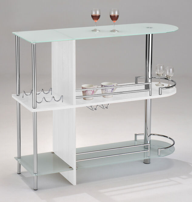 Kings Brand Furniture Bar Table With Two White Tempered