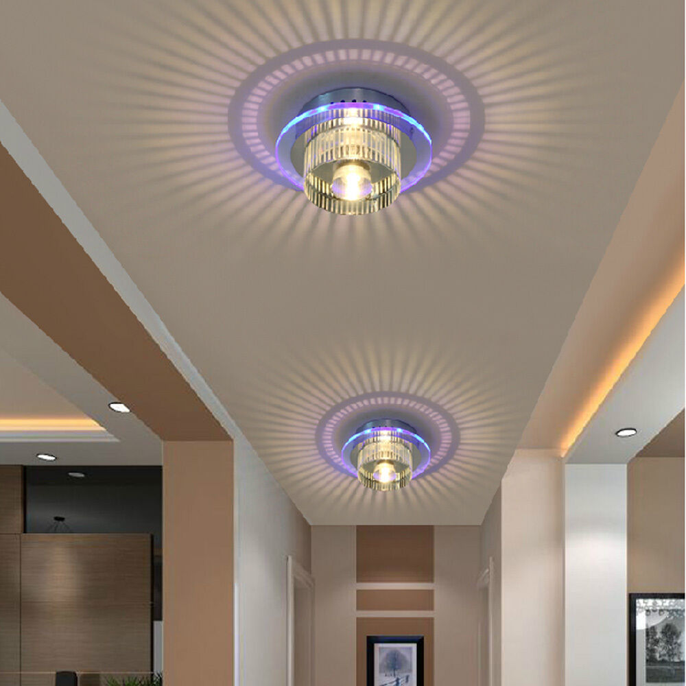 Modern Porch Ceiling Lights : Modern led crystal chandelier ceiling pendant fixtures