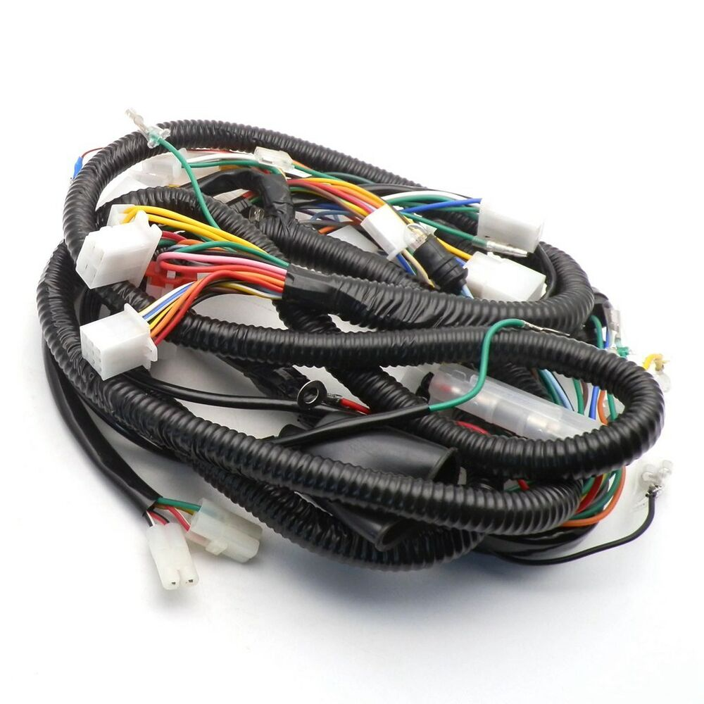 alternator wire harness wire size chinese gy6 150cc wire harness wiring assembly scooter ...